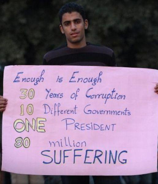Quando è troppo, è troppo: 30 anni di corruzione, 10 differenti governi, un presidente, 80 milioni di sofferenti.