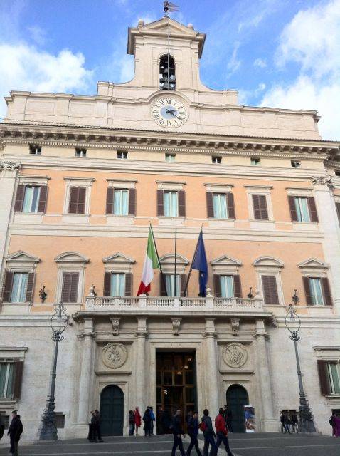 Palazzo montecitorio sede del parlamento italiano for Parlamento montecitorio