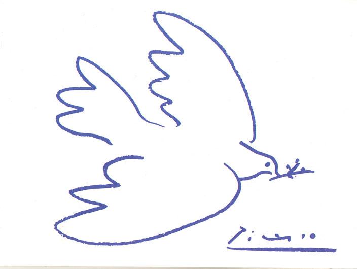 Molto colomba della Pace di Pablo Picasso CB89