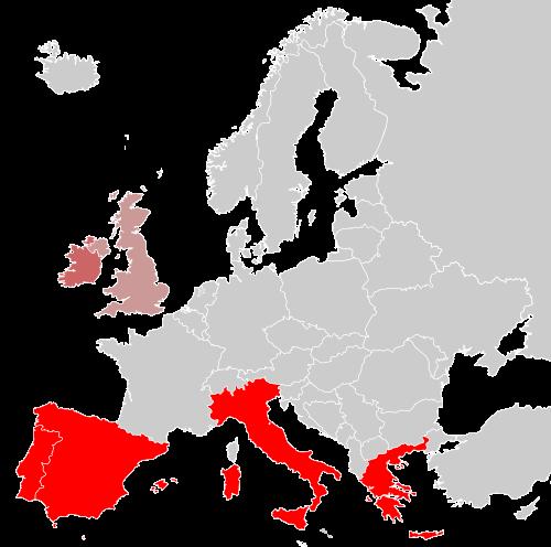 portugal greece spain