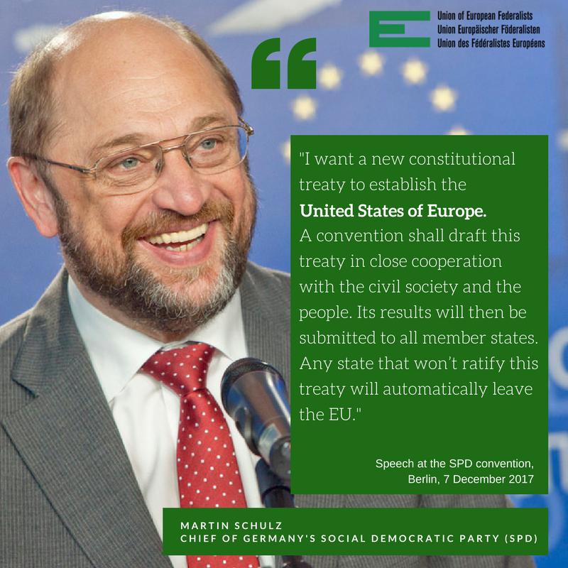 Martin Schulz alla convenzione SPD 7 dicembre 2017