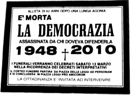 Morte della democrazia