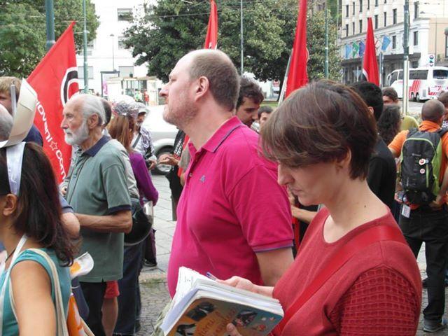 PeaceLink presenzia al Presidio NO MUOS di Milano