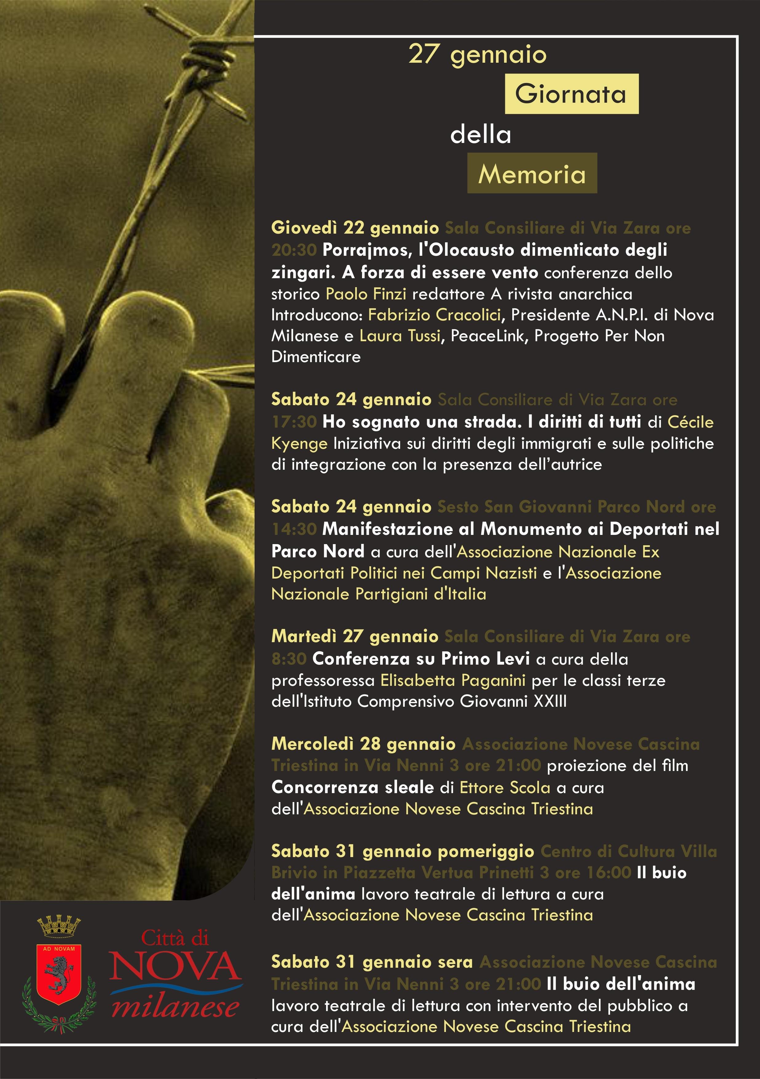 Giorno della Memoria - 27 Gennaio, Nova Milanese