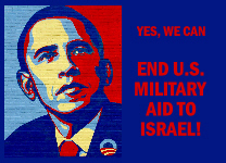 Yes we can end U.S. military aid to Israel