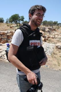 Jared Malsin, 26 anni, caporedattore del desk inglese di Ma'an News, recentemente espulso da Israele